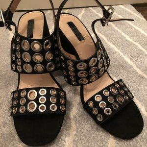 Topshop heels with silver detail